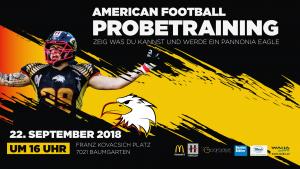 Pannonia Eagles American Football Probetraining Burgenland 2018